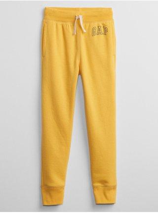 Žluté klučičí tepláky GAP Logo pull-on joggers
