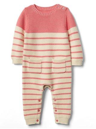 Modrý holčičí overal brannan stripe one-piece