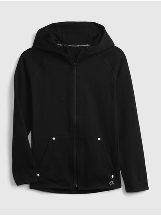 Černá klučičí mikina GapFit kids fit tech hoodie