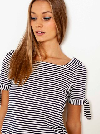 Bílo-černé pruhované tričko CAMAIEU