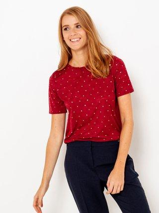 Červené puntíkované tričko CAMAIEU