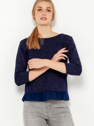 Tmavě modré žíhané tričko CAMAIEU