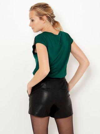Tričká s krátkym rukávom pre ženy CAMAIEU - tmavozelená