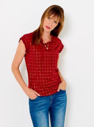 Červené kostkované tričko CAMAIEU