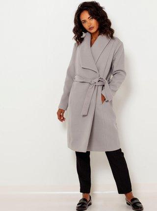 Světle šedý kabát CAMAIEU