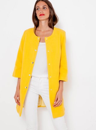 Žlutý kabátek s tříčtvrtečním rukávem CAMAIEU