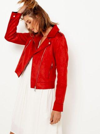 Červená semišová bunda CAMAIEU