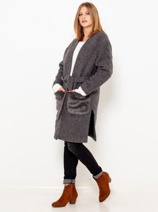 Šedý kabát s přísměsí vlny CAMAIEU