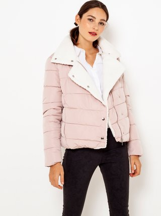 Světle růžová prošívaná bunda CAMAIEU