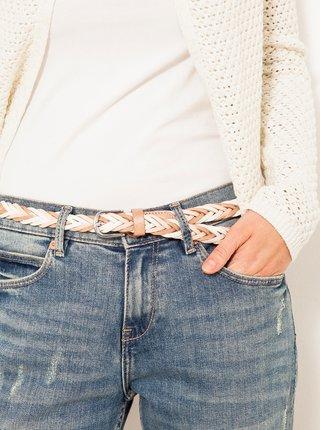 Béžovo-bílý pletený pásek CAMAIEU