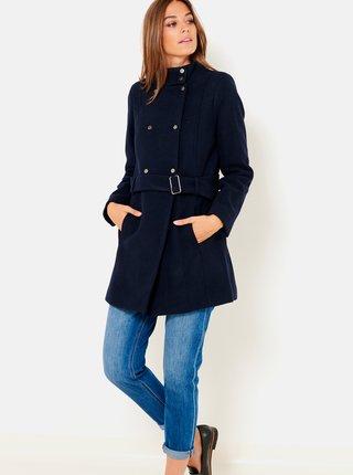 Tmavomodrý kabát so stojačikom CAMAIEU