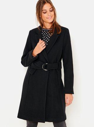 Černý kabát s přísměsí vlny CAMAIEU