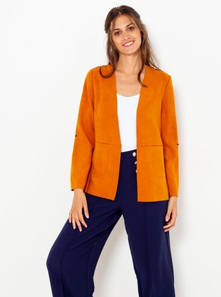 Oranžové semišové sako CAMAIEU