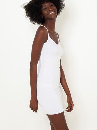 Bílé krátké pouzdrové šaty CAMAIEU