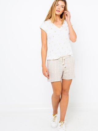 Biele vzorované tričko CAMAIEU