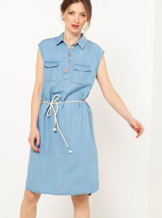 Světle modré džínové šaty CAMAIEU