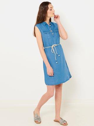 Modré rifľové šaty CAMAIEU