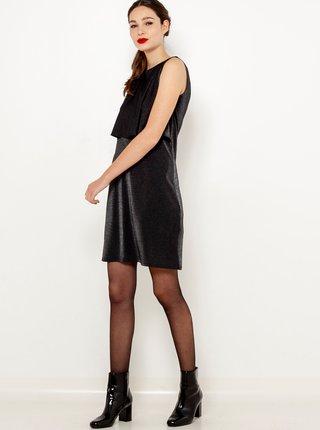 Černé lesklé šaty CAMAIEU