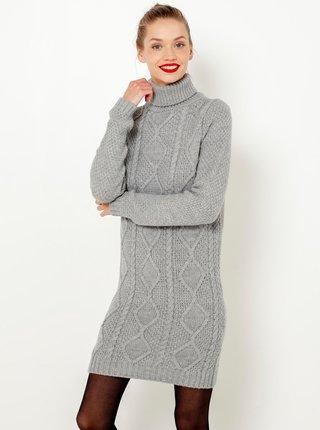 Šedé svetrové šaty CAMAIEU