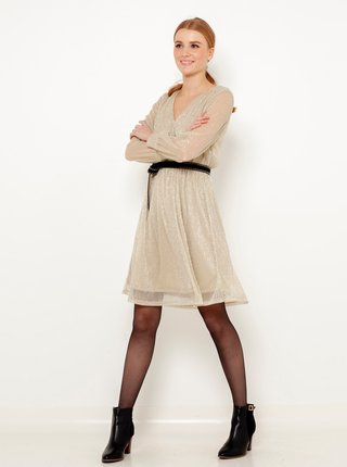 Spoločenské šaty pre ženy CAMAIEU - béžová
