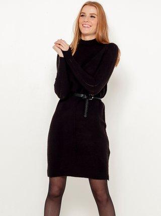 Černé svetrové šaty CAMAIEU