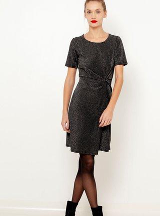 Černé třpytivé šaty CAMAIEU