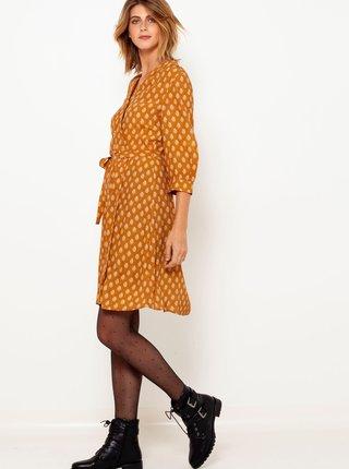 Šaty na denné nosenie pre ženy CAMAIEU - horčicová