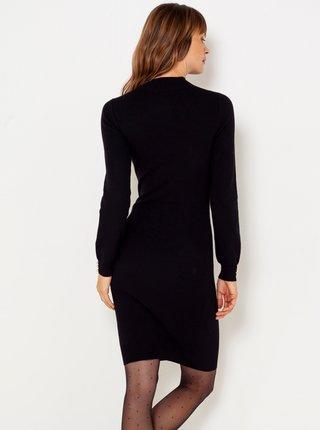 Čierne svetrové púzdrové šaty CAMAIEU