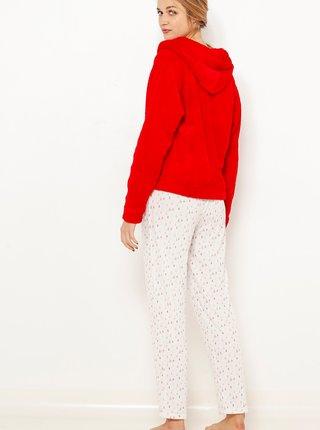 Sada pyžama a mikiny v červeno-bílé barvě s vánočním motivem CAMAIEU