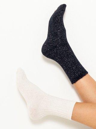 Sada dvoch ponožiek v čiernej a bielej farbe CAMAIEU