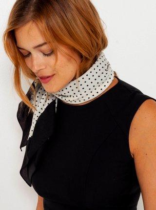 Černo-bílý puntíkovaný šátek CAMAIEU