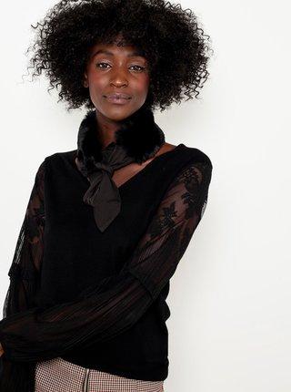 Černý šátek z umělého kožíšku CAMAIEU