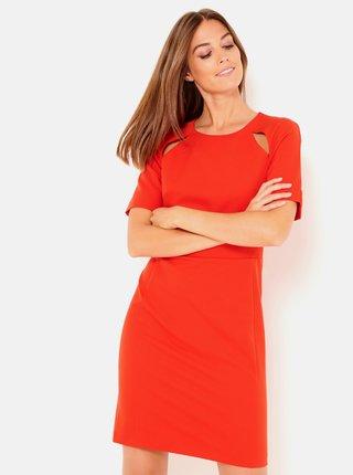 Červené púzdrové šaty CAMAIEU