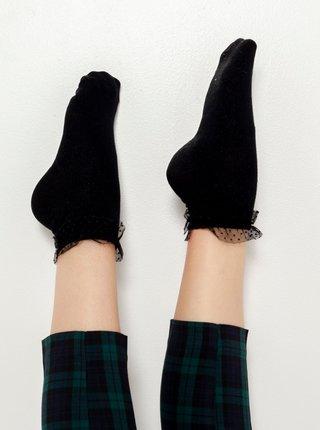 Čierne ponožky s volánom CAMAIEU