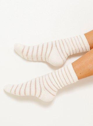 Sada dvou párů ponožek v růžové a bílé barvě CAMAIEU