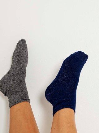Sada dvou ponožek v tmavě modré a šedé barvě CAMAIEU