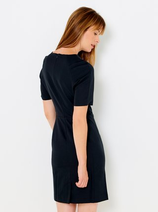 Tmavomodré púzdrové šaty CAMAIEU