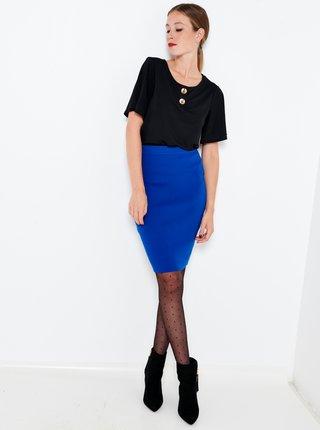 Tmavomodrá púzdrová sukňa CAMAIEU