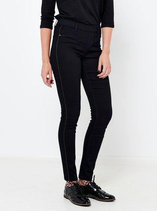 Černé slim fit džíny s lampasem CAMAIEU