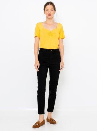Černé zkrácené džínové kalhoty CAMAIEU