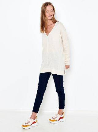Bílý volný svetr CAMAIEU