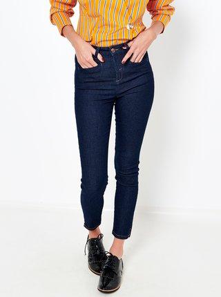 Modré zkrácené džínové kalhoty CAMAIEU