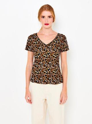 Hnedé vzorované tričko CAMAIEU