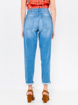 Modré zkrácené mom džíny s vysokým pasem CAMAIEU