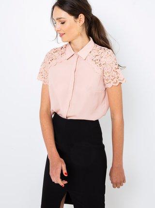 Světle růžová košile s krajkou CAMAIEU