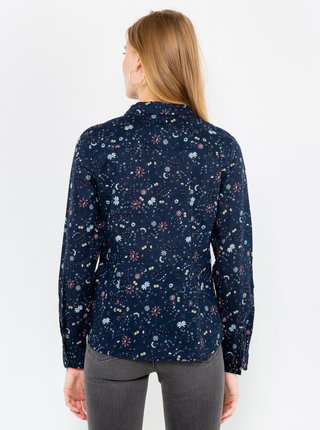 Tmavomodrá vzorovaná košeľa CAMAIEU
