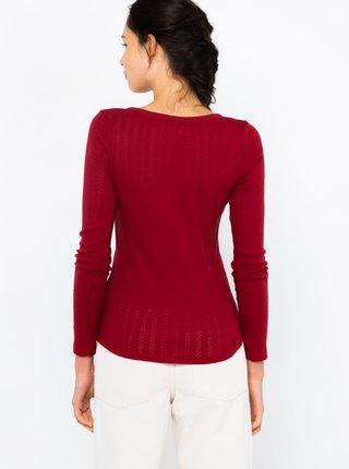 Tričká s dlhým rukávom pre ženy CAMAIEU - vínová