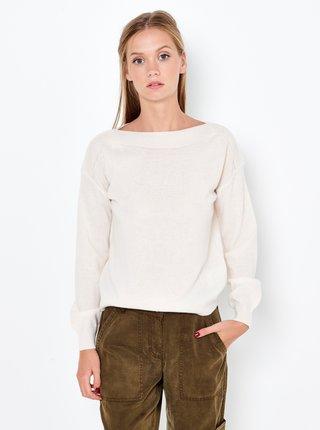 Krémový ľanový sveter s prímesou kašmíru CAMAIEU