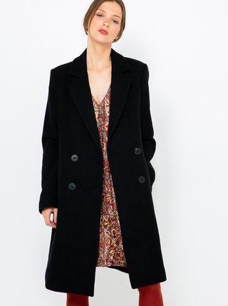 Černý lněný kabát CAMAIEU
