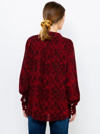 Vínová vzorovaná košeľa CAMAIEU